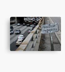 no pedestrians Canvas Print