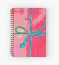 Atractivo azul eléctrico busca lazo rosa fluorescente... Cuaderno de espiral