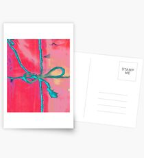 Atractivo azul eléctrico busca lazo rosa fluorescente... Postales