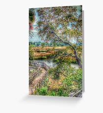 Marsh Boardwalk Greeting Card