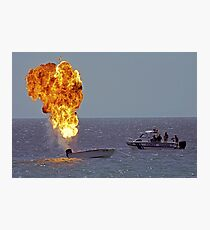 Explosives on board Photographic Print