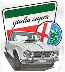 Póster Alfa Romeo Giulia Super