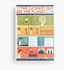How to be THE LUCKIEST GUY ON THE PLANET in 4 Easy Steps Metal Print