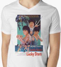 Twinkle Twinkle Glückliche Sterne T-Shirt mit V-Ausschnitt für Männer