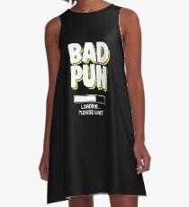 Funny Pun Joke Apparel A-Line Dress