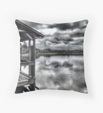 Salt Marsh Dock Throw Pillow