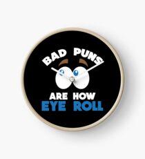 Funny Pun Joke Apparel Clock
