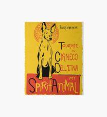 Funny Cirnecho Dell Etna Cute Dog Chat Noir Mashup Art Design Art Board