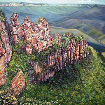 On the Edge, Blue Mountains, Australia by LindArt1