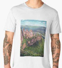 On the Edge, Blue Mountains, Australia Men's Premium T-Shirt