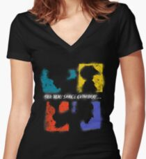 SEE YOU SPACE COWBOY Women's Fitted V-Neck T-Shirt