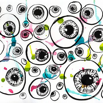 Inky eyeballs and paint splatter by randomcouture