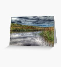Clouds over Salt Marsh Greeting Card