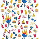 Summer BBQ in Americana Palette  by latheandquill