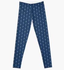 Blue Martinis Pattern Leggings