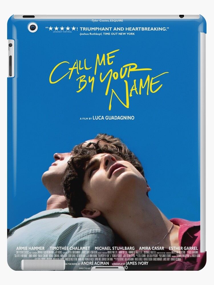 Call Me By Your Name Film Poster Ipad Cases Skins By