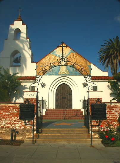 Mary, Star of the Sea Church in La Jolla, California  by Heather Friedman