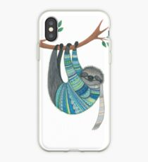 Smiley sloth wearing sweater iPhone Case