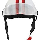 Striped Scooter Kpop Helmet Red by BionicWiggly