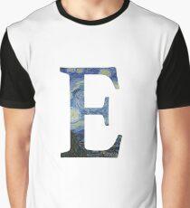 Starry Night Alphabet - E Graphic T-Shirt