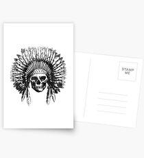 Vintage Chief Skull Design Postcards