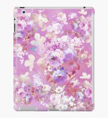 Vinilo o funda para iPad Femenino Rosa acuarela blanco vintage estampado de flores