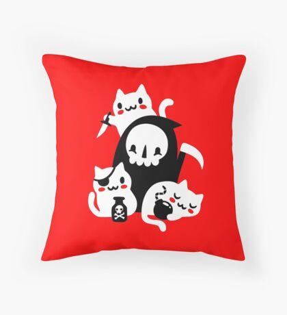 Deaths Little Helpers Throw Pillow