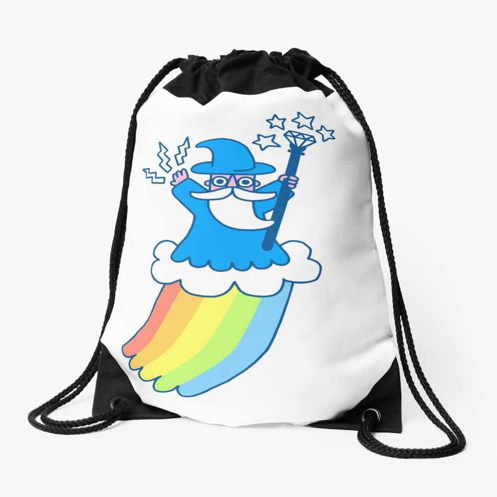 Rainbow Wizard Drawstring Bag