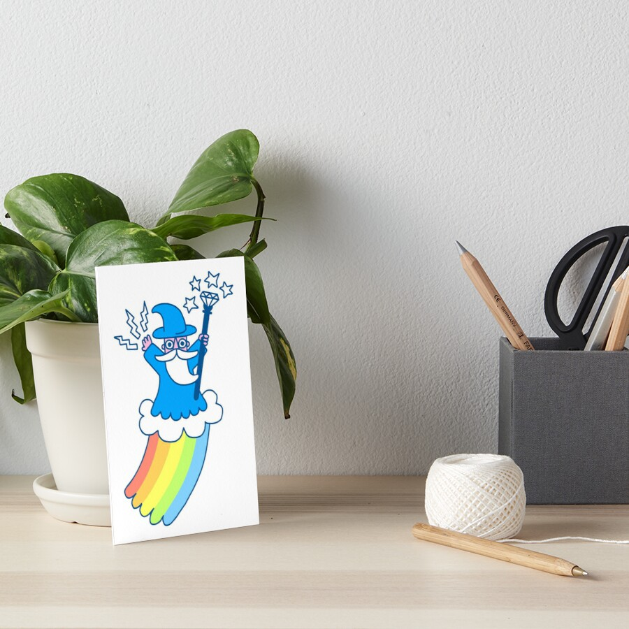 Rainbow Wizard Art Board Print
