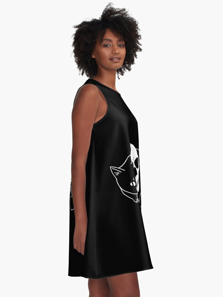 Alternate view of Spooky Cat A-Line Dress