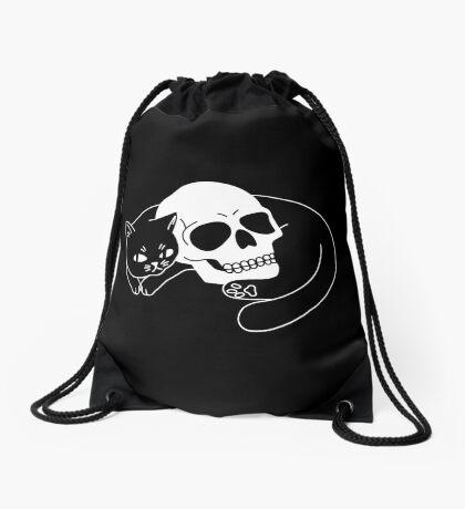 Spooky Cat Drawstring Bag