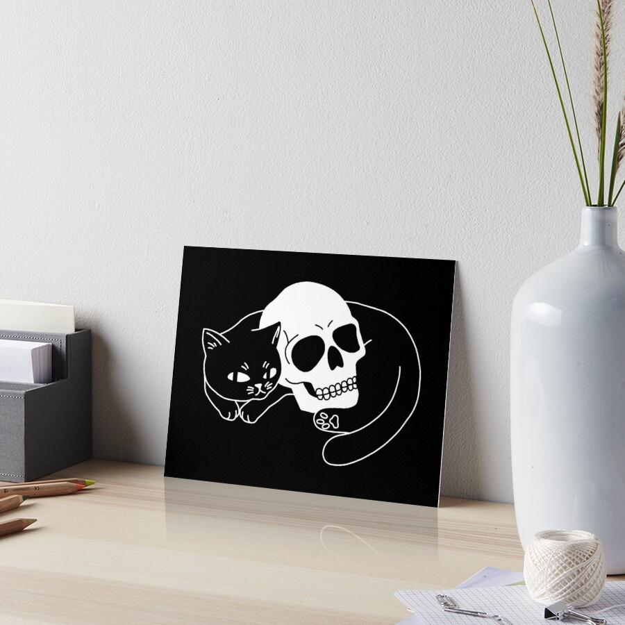 Spooky Cat Art Board Print