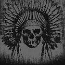 Vintage Native Skull Design by EthosWear