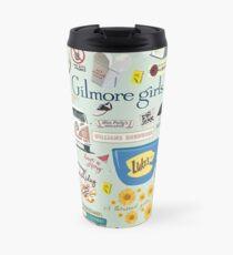 Gilmore Girls Collage, mint green Travel Mug