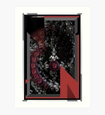 Red Cross Abstract Art Print