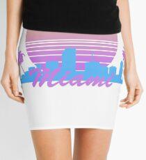 Retro Miami Skyline Mini Skirt