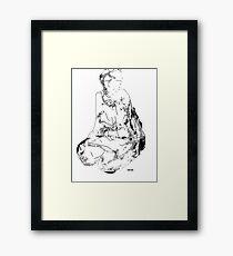 on bended knee Framed Print