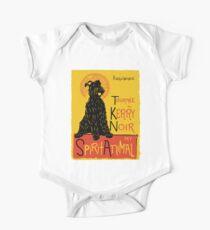 Funny Kerry Blue Terrier Cute Dog Chat Noir Mashup Art Design One Piece - Short Sleeve