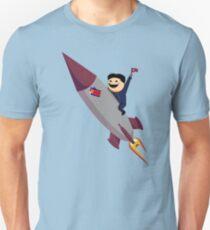 Kim Jong-Un on a Rocket Unisex T-Shirt