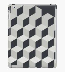 Gradient Cubes – Ebony Black / Warm Gray iPad Case/Skin