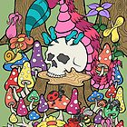 Monster Vogel und Schädel von Brett Gilbert