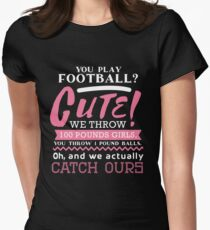 Football Is Cute  Women's Fitted T-Shirt