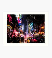 Lámina artística Noche de la ciudad de Nueva York