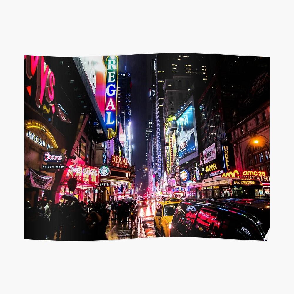 New Yorker Nacht Poster