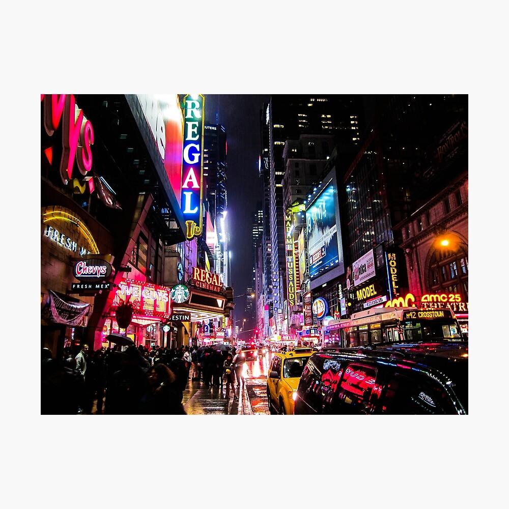 New Yorker Nacht Fotodruck