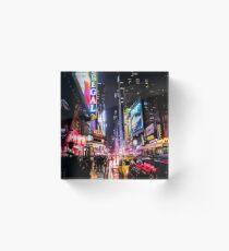 Bloque acrílico Noche de la ciudad de Nueva York