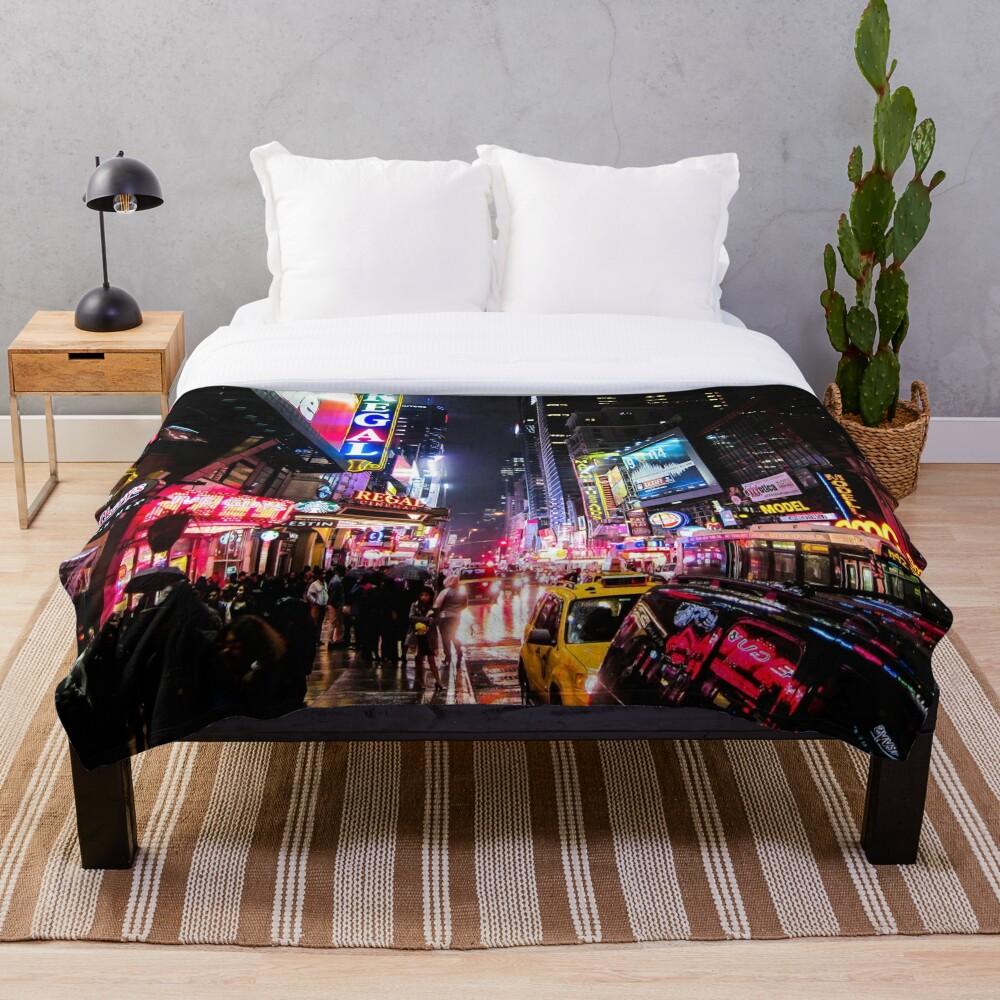New York City Night Throw Blanket