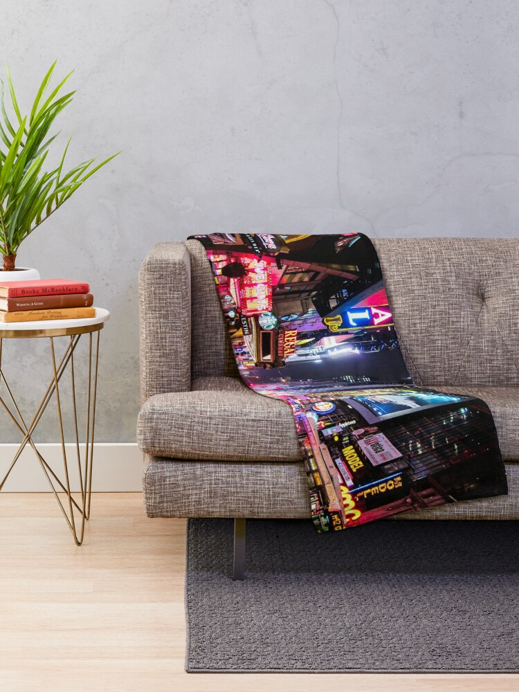 Alternate view of New York City Night Throw Blanket