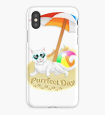 The Purrfect Day iPhone Case