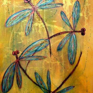Dragonfly Haze by lyndseyart